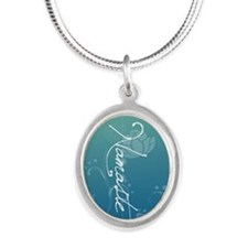 Namaste Silver Oval Necklace