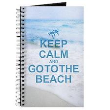 Keep Calm Go To The Beach Journal