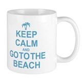 Keep Calm Go To The Beach Small Mug