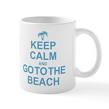 Keep Calm Go To The Beach Small Mug