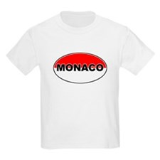 Monaco Oval Flag Kids T-Shirt