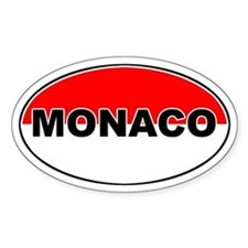 Monaco Oval Flag Oval Decal