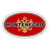 Montenegro Oval Flag Oval Decal