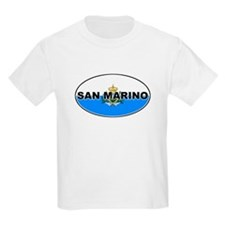 San Marino Oval Flag Kids T-Shirt