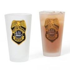 Unique Police badge Drinking Glass
