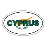 Cyprus Oval Flag Oval Decal