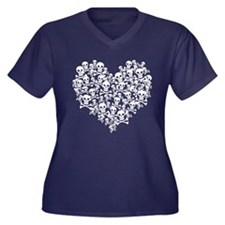 Skull Heart Plus Size T-Shirt