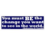 Gandhi: Be the Change Bumper Sticker