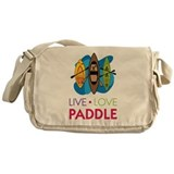Live Love Paddle Messenger Bag