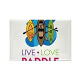 Live Love Paddle Rectangle Magnet
