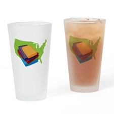Read Books Drinking Glass
