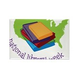 National Library Week Rectangle Magnet