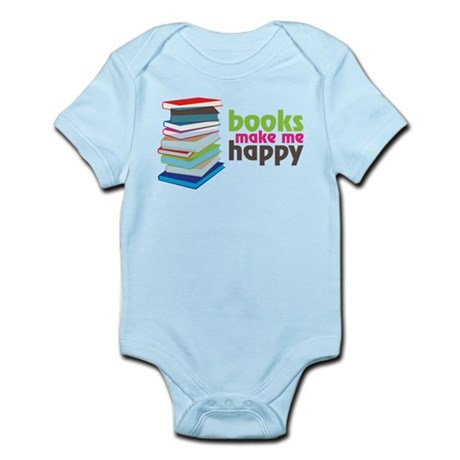 Books Make Me Happy Infant Bodysuit