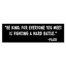 Plato Be Kind Car Sticker