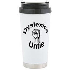 Dyslexics Untie Ceramic Travel Mug