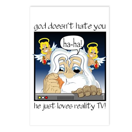 God Hates You Postcards (Package of 8)