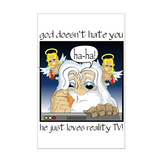 God Hates You Mini Poster Print