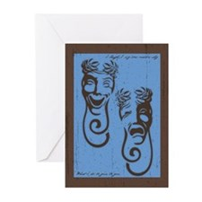 Comedy & Tragedy Greeting Cards (Pk of 10)
