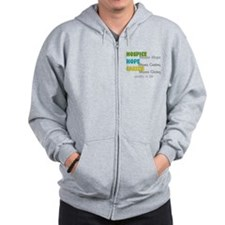 Hospice 2013 hope green blue.PNG Zip Hoodie