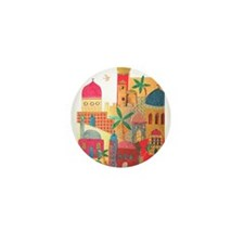 Jerusalem City Colorful Art Mini Button (100 pack)