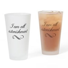 I Am All Astonishment Drinking Glass