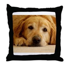 Cute Golden retriever Throw Pillow