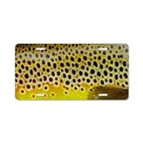 Brown Trout - Aluminum License Plate
