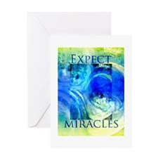 Expect Miracles Art Greeting Cards