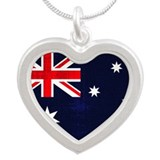 Australian Grunge Silver Heart Necklace