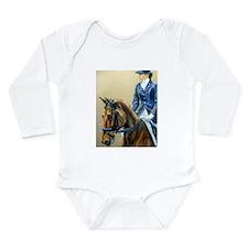 Dressage Diva Long Sleeve Infant Bodysuit