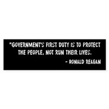 Duty of Government Ronald Reagan Bumper Sticker
