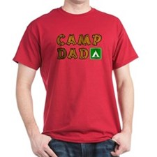 Camp Dad Dark Red T-Shirt
