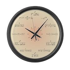 Math Clock (Light Yellow) Large Wall Clock