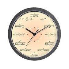 Math Clock (Light Yellow) Wall Clock
