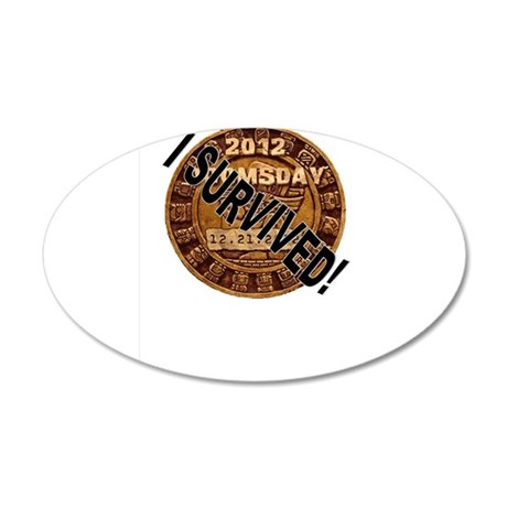 I Survived! 20x12 Oval Wall Decal