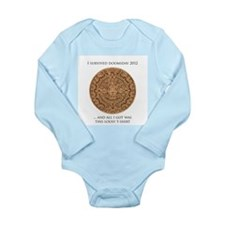 I survived Doomsday 2012 Long Sleeve Infant Bodysu