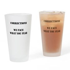 Cute Correctional officer Drinking Glass