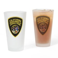 Funny Police badge Drinking Glass