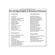 "Boston-English Dictionary Square Sticker 3"" x 3"""