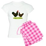 Barnevelder Chickens Women's Light Pajamas
