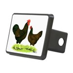 Barnevelder Chickens Rectangular Hitch Cover