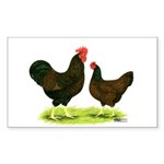 Barnevelder Chickens Sticker (Rectangle 10 pk)