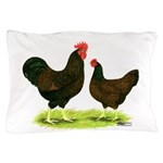 Barnevelder Chickens Pillow Case