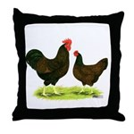 Barnevelder Chickens Throw Pillow