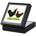 Barnevelder Chickens Keepsake Box