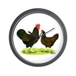 Barnevelder Chickens Wall Clock