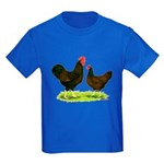 Barnevelder Chickens Kids Dark T-Shirt