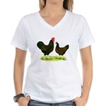 Barnevelder Chickens Women's V-Neck T-Shirt