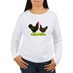Barnevelder Chickens Women's Long Sleeve T-Shirt
