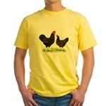Barnevelder Chickens Yellow T-Shirt